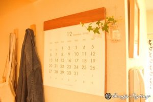 リビングのカレンダー